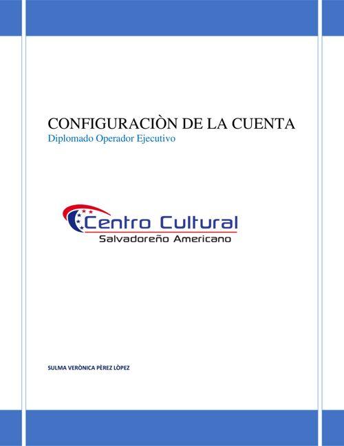 CONFIGURACIÓN DE CUENTA