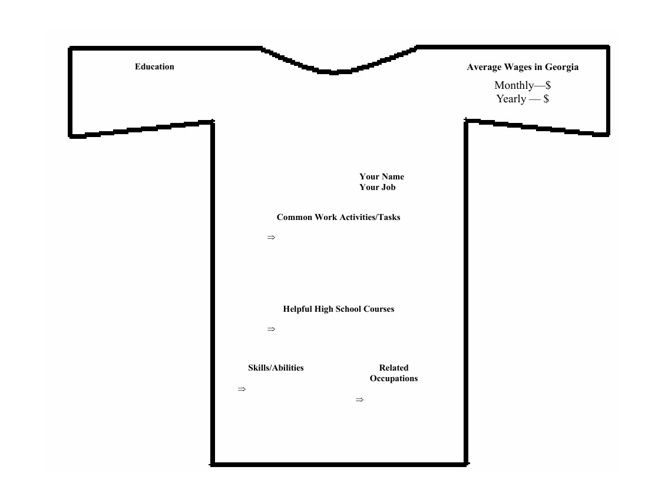 t shirt layout instructions blank
