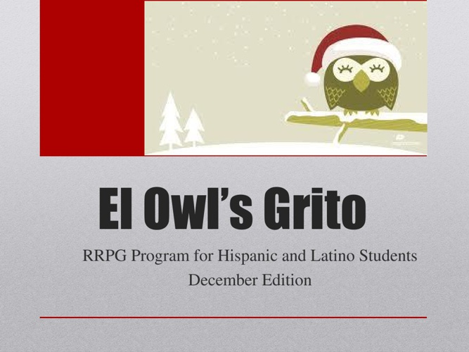 RRPG The Owl's Grito December Newsletter