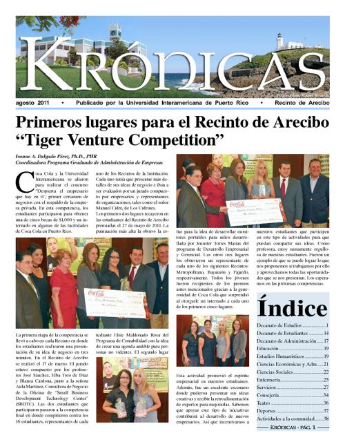 Periódico Krónicas - agosto 2011
