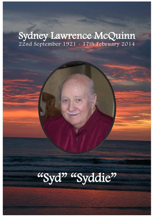 4 Order of Service for Sydney Lawrence McQuinn