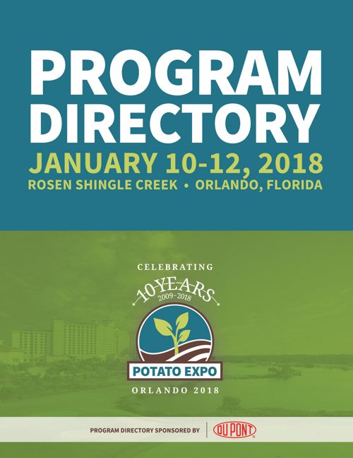 2018 Potato Expo Program Directory - final