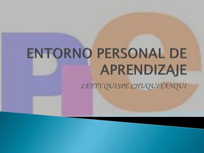 ENTORNO PERSONAL DE APRENDIZAJE- QUISPE