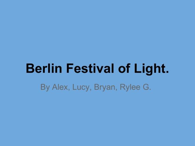 Berlin Festival of Light