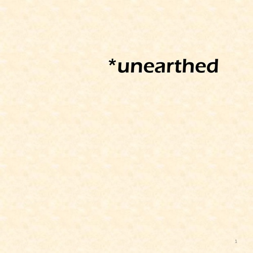 *unearthed catalogue final draft 1