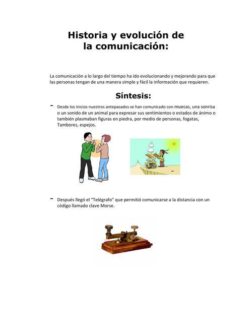 Historia y evolución de la comunicacion