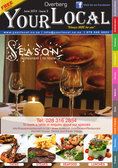 Your Local Magazine - Overberg June 2013 Issue 2