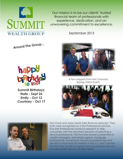 SWG September Newsletter
