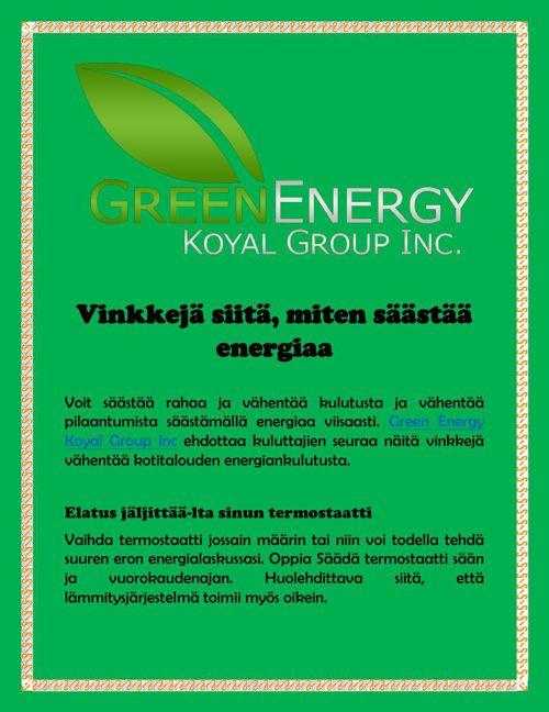 Vinkkejä siitä, miten säästää energiaa