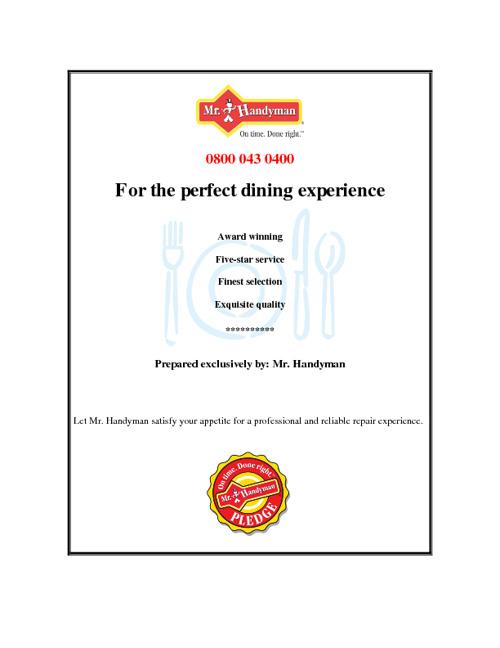 Mr Handyman Services - Restaurants