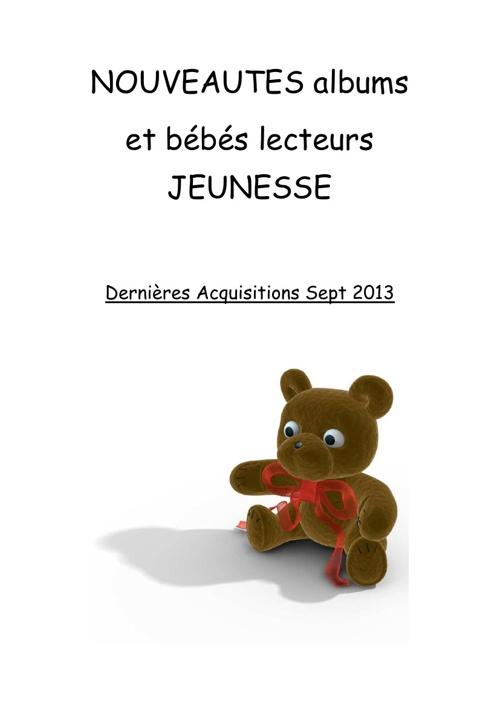 Nouveautés albums et doc sept 2013