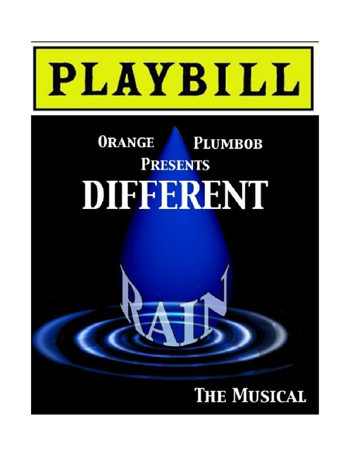 Different Rain Playbill