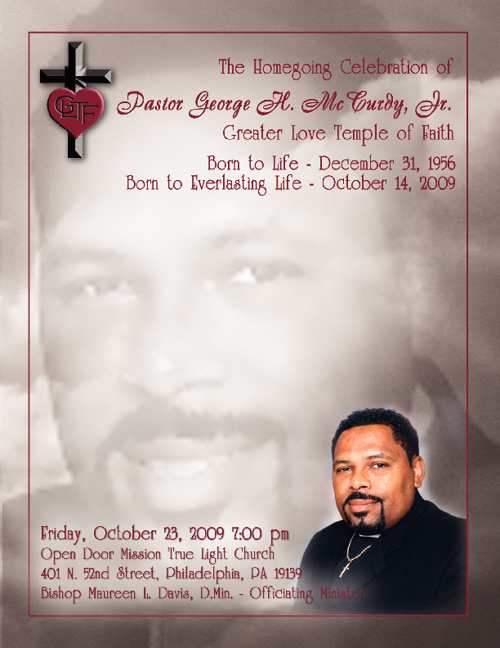 G. McCurdy Funeral Program