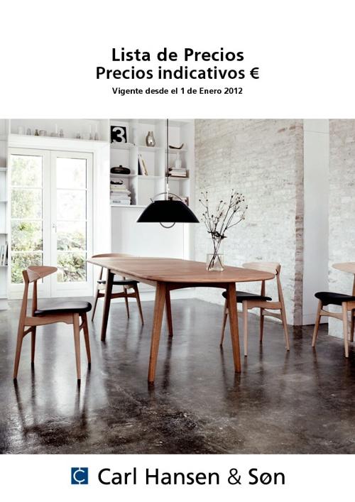 Lista de precios 2012 Carl Hansen