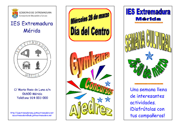 Semana cultural. Curso 2011-2012