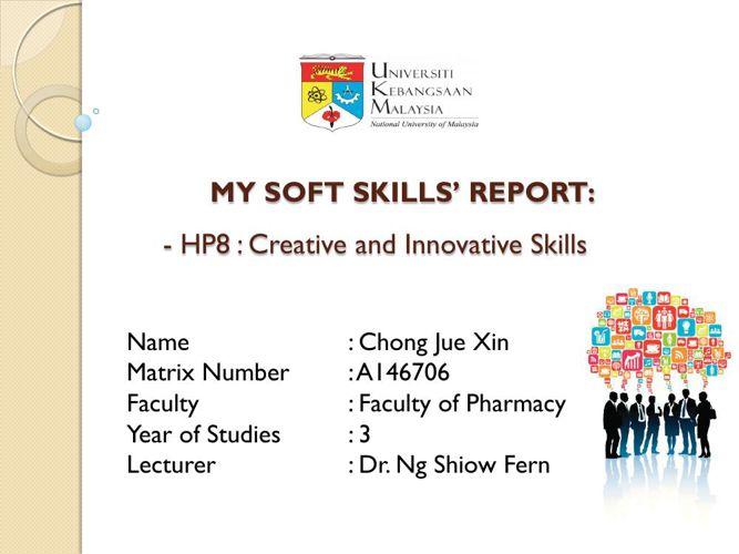 HP8 Creative and Innovative Skills_Chong Jue Xin A146706