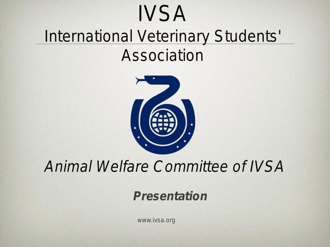 Animal welfare Committee of IVSA