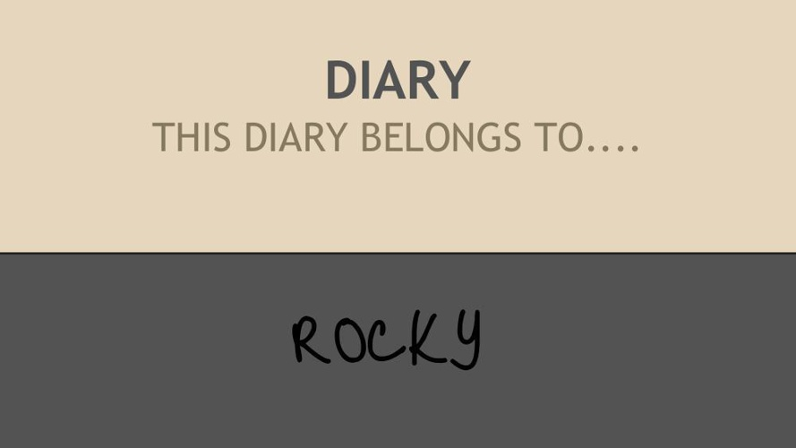 THE DIARY OF ROCKY