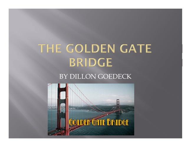 New Fligolden gate bridge book