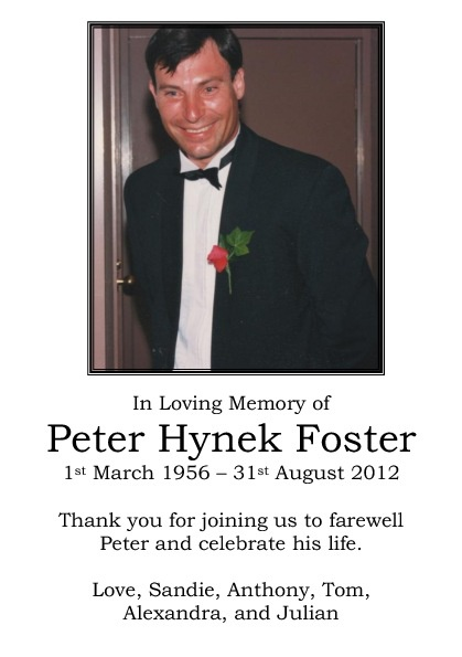 Peter Foster Sample 2