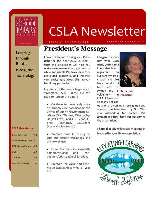 2017_02_03 CSLA Newsletter
