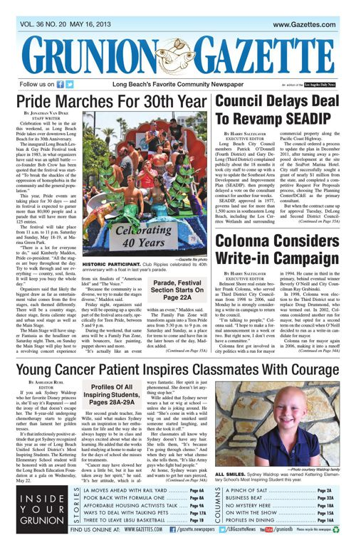 Grunion Gazette | May 16, 2013