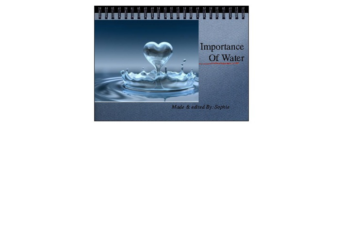 Importance Of Water Presentation