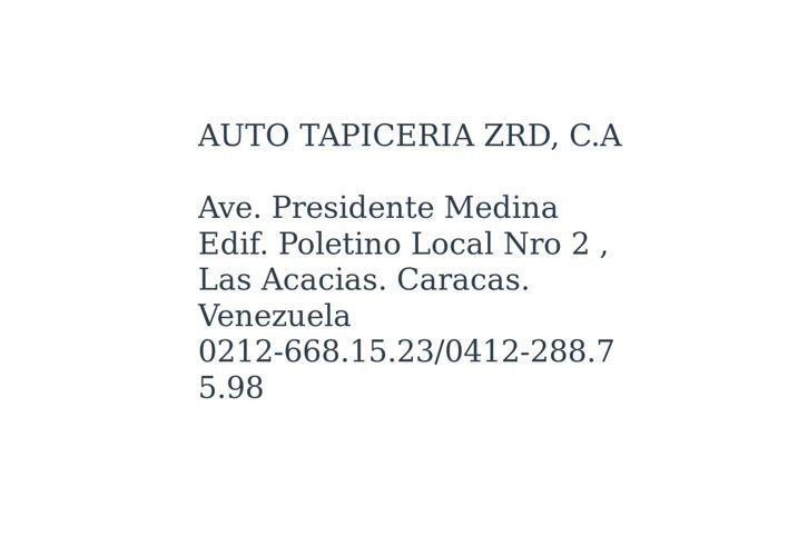 AUTO TAPICERIA ZRD, C.A