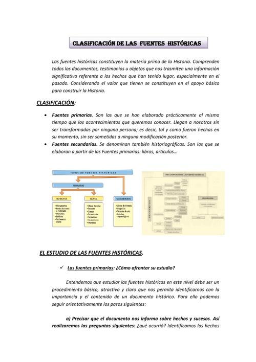 Copy of CLASIFICACIÓN DE LAS FUENTES HISTÓRICAS