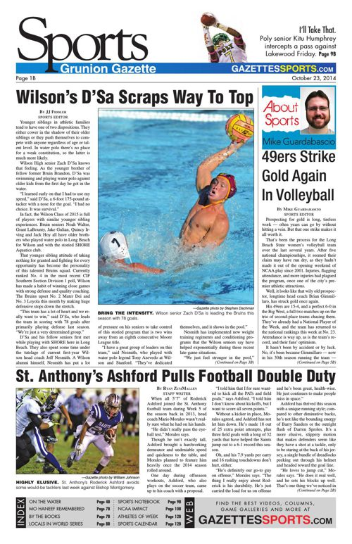 Gazette Sports | October 23, 2014