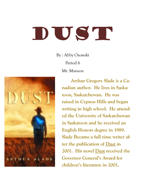 """Dust"" book report"