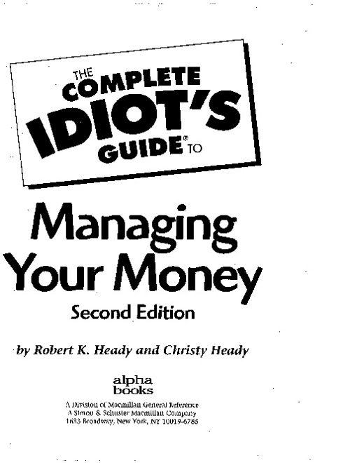 Copy of complete idiots guide to money