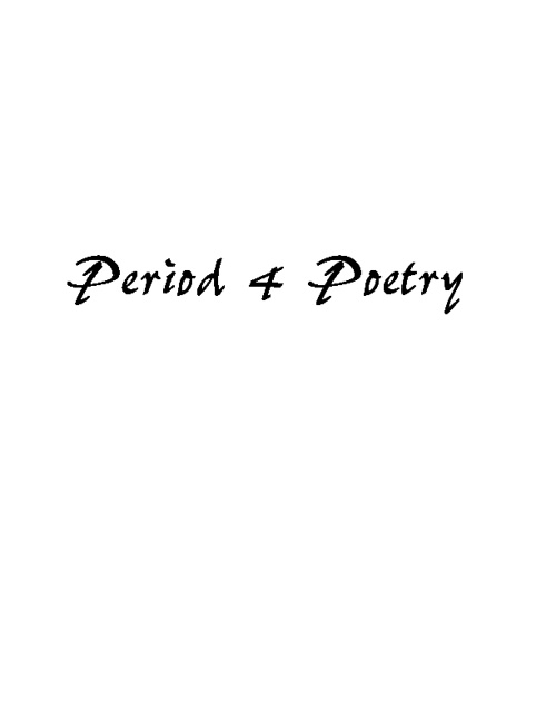 Period 4 Poetry