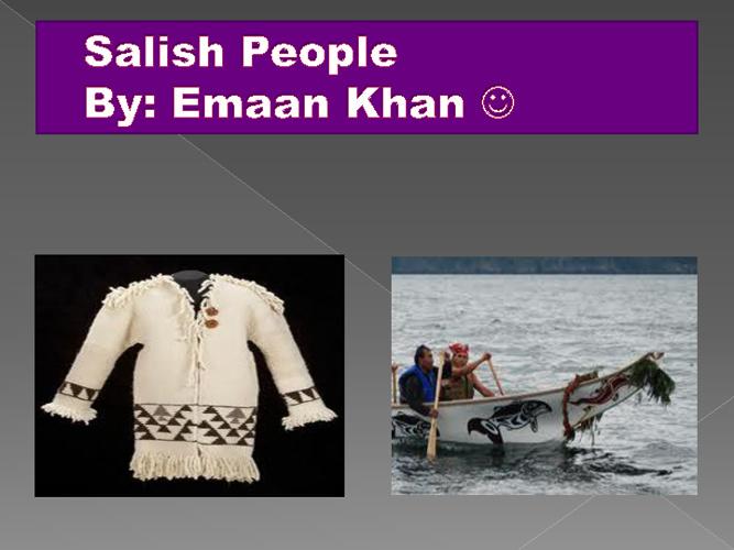 My Book of Salish people