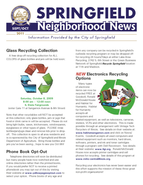Neighborhood News Sept-Oct 2011