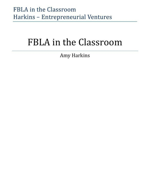 FBLA in the Classroom - Harkins