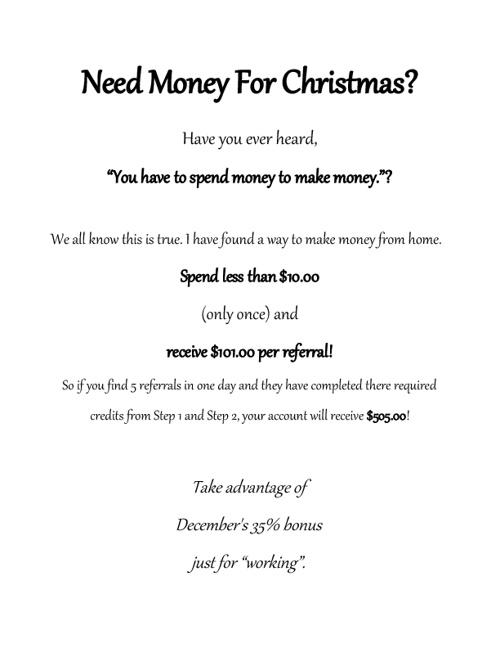 Extra Money for Christmas!!