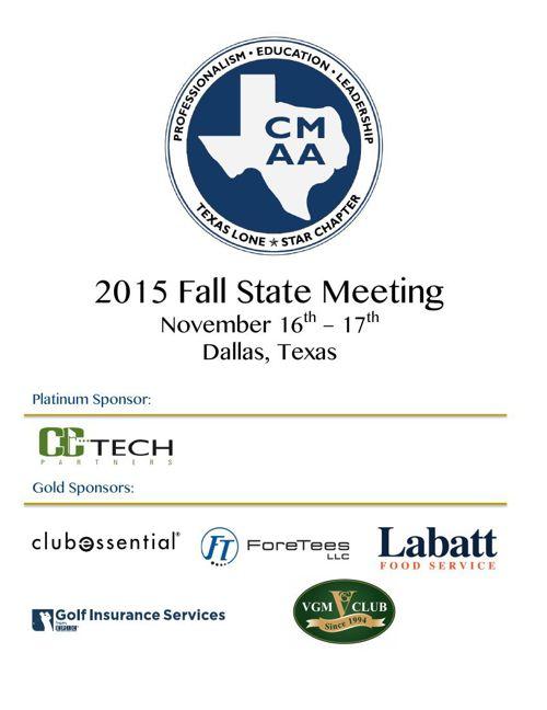 2015 Fall Meeting Brochure