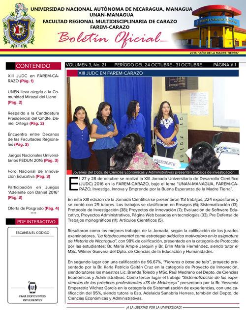 Boletín Oficial (Vol3. Núm.21)