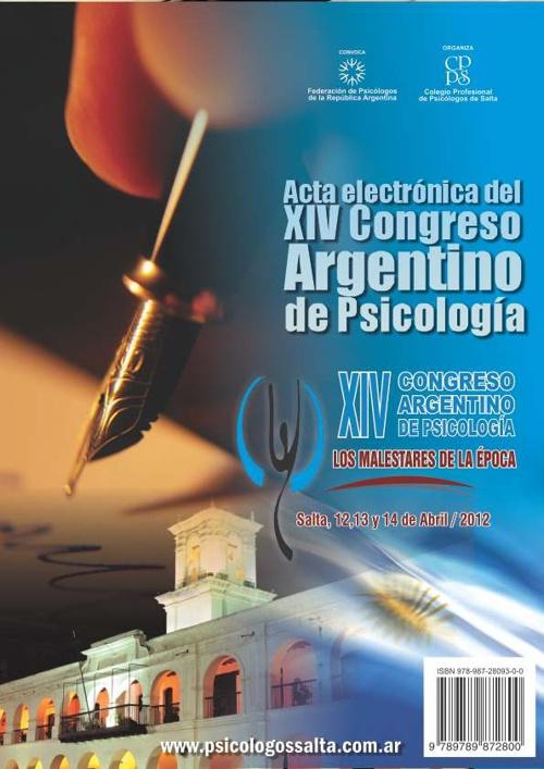 Acta Digital XIV CONGRESO ARGENTINO DE PSICOLOGÍA
