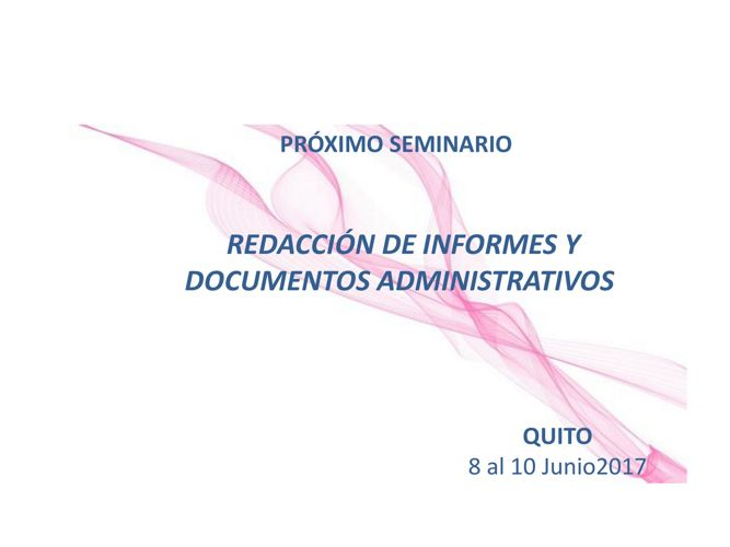 REDACCIÓN DE INFORMES Y DOCUMENTOS ADMINISTRATIVOS