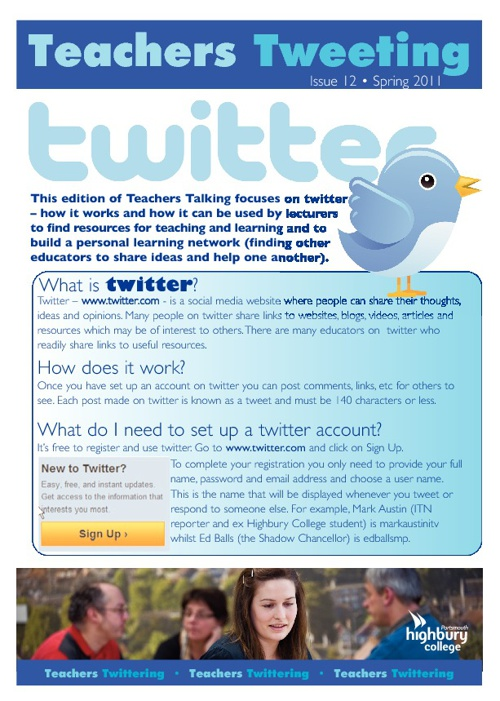 Teachers Tweeting @ April 2011 (By Graham Carter)