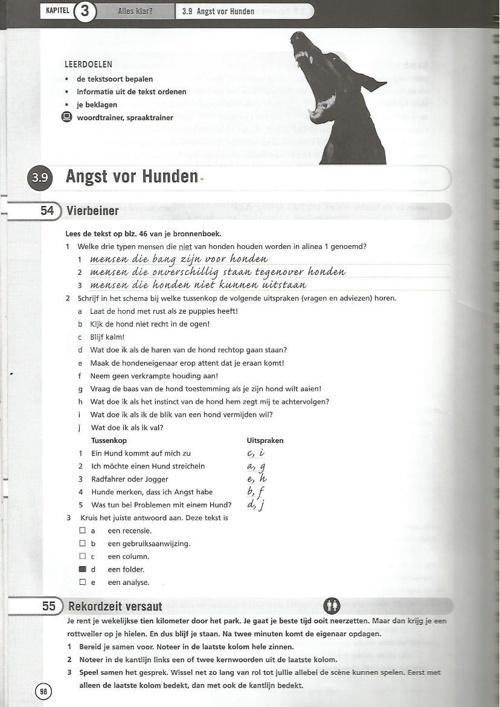 Antwoorden  NK 4H Kap. 3 S 98 ff
