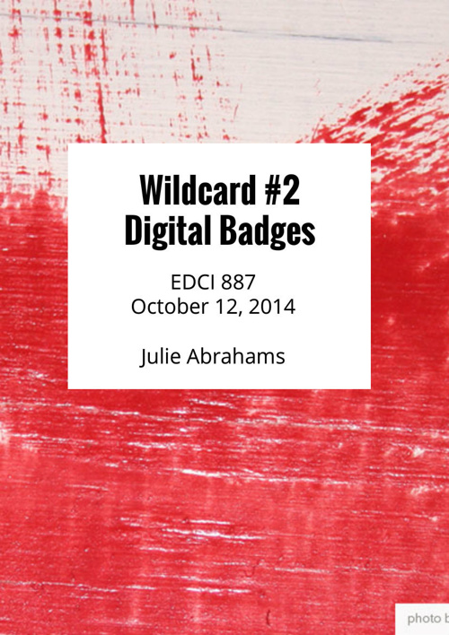 Wildcard 2, Digital Badges