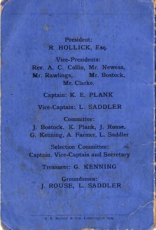 1936 Fixture Book