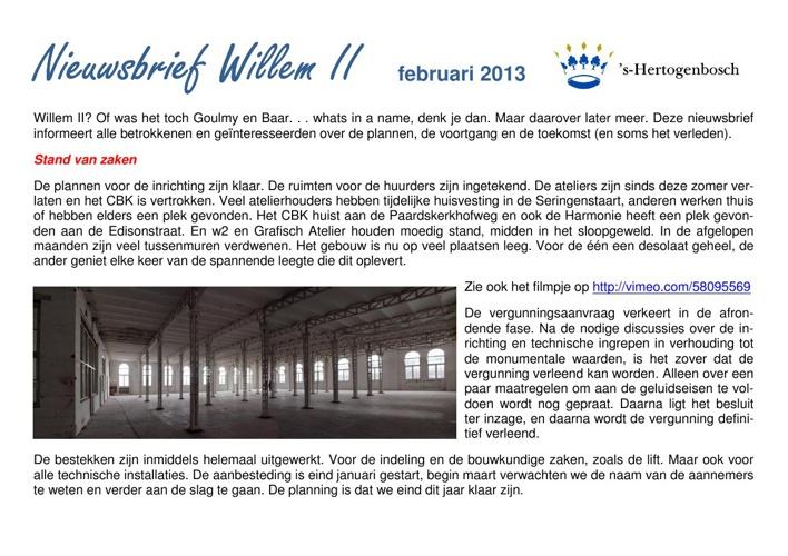 Nieuwsbrief Willem II