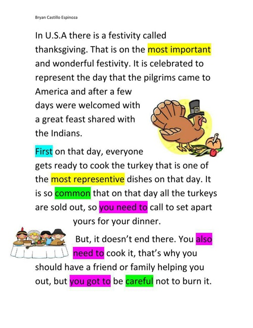 Copy of culminating activity: Thanksgiving