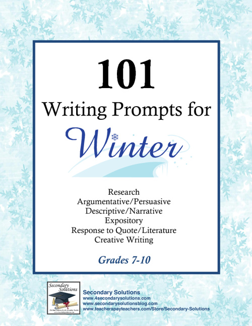 101 Winter Writing Propmpts