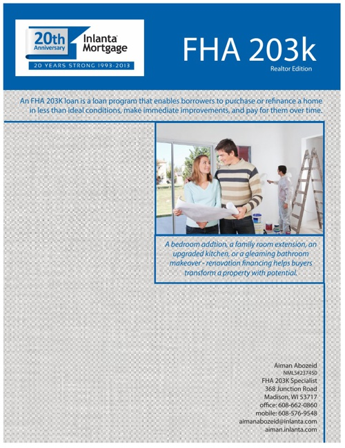 FHA 203K Realtor Education