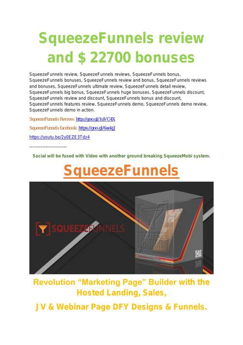 Squeeze Funnels Review - TRUST about Squeeze Funnels  and 80% di